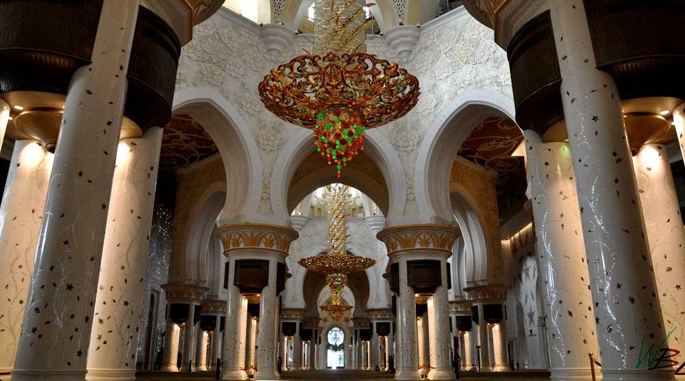 Inside Sheikh Zayed Bin Sultan Al Nahyan Mosque