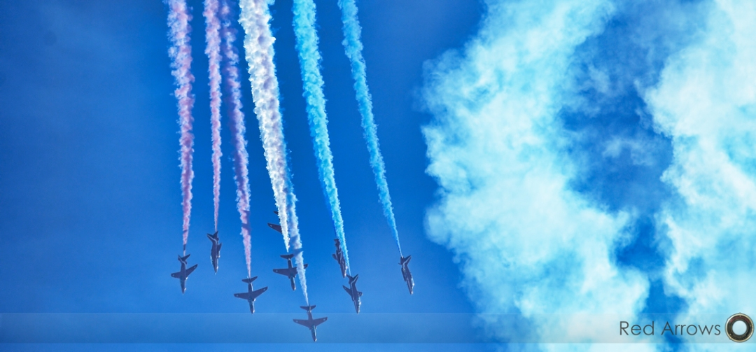 Red arrows - aerobatics team from the UK.